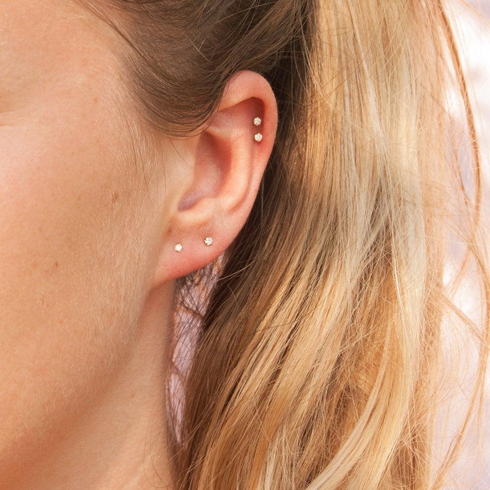 9ct gold tiny diamond studs diamonds stud earrings