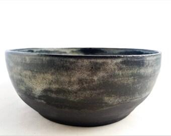 Big Stoneweare Salad Bowl Fruit Bowl Unique Handmade Pottery Dishwasher safe Elegant Contemporary design Matte Glaze