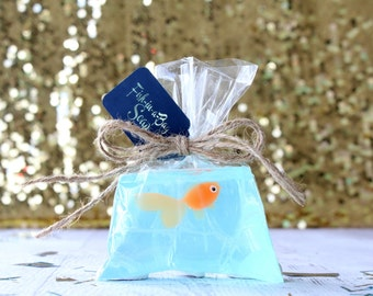 Orange Fish Soap - Fish In A Bag Soap - Kids Soap - Novelty Soap - Gag Gift Soap - Party Soap - Pirate Party Favors - Mermaid Party Favor