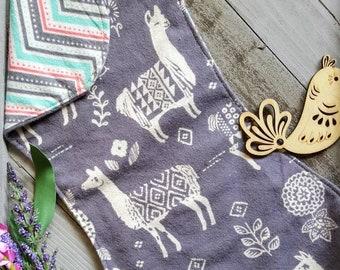 Burp Cloth- llama