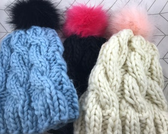 Cable Knit Beanies