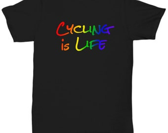Cycling is life - awesome t-shirt - gift
