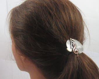 Music Ponytail Holder- Hair Ties- Elastics- Music Lovers Gift-Musician Gift- Musical Accessory
