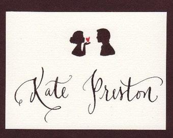 carte de place de mariage avec la calligraphie personnalisée