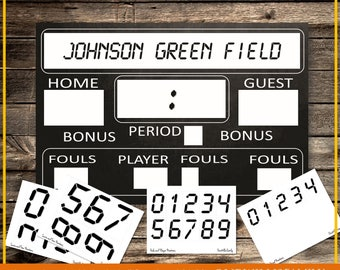 Interactive Printable Scoreboard 24x36, Digital, INSTANT DOWNLOAD