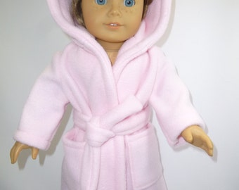 Pink robe in two styles for American girl doll