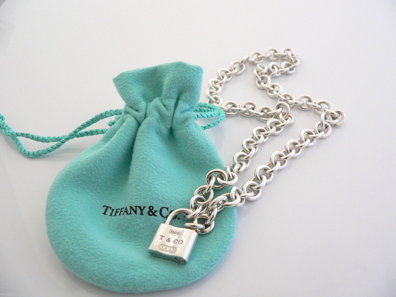 Tiffany co 1837 padlock lock charm necklace pendant 1625 in zoom audiocablefo light Images