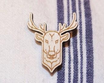 Deer wood pin