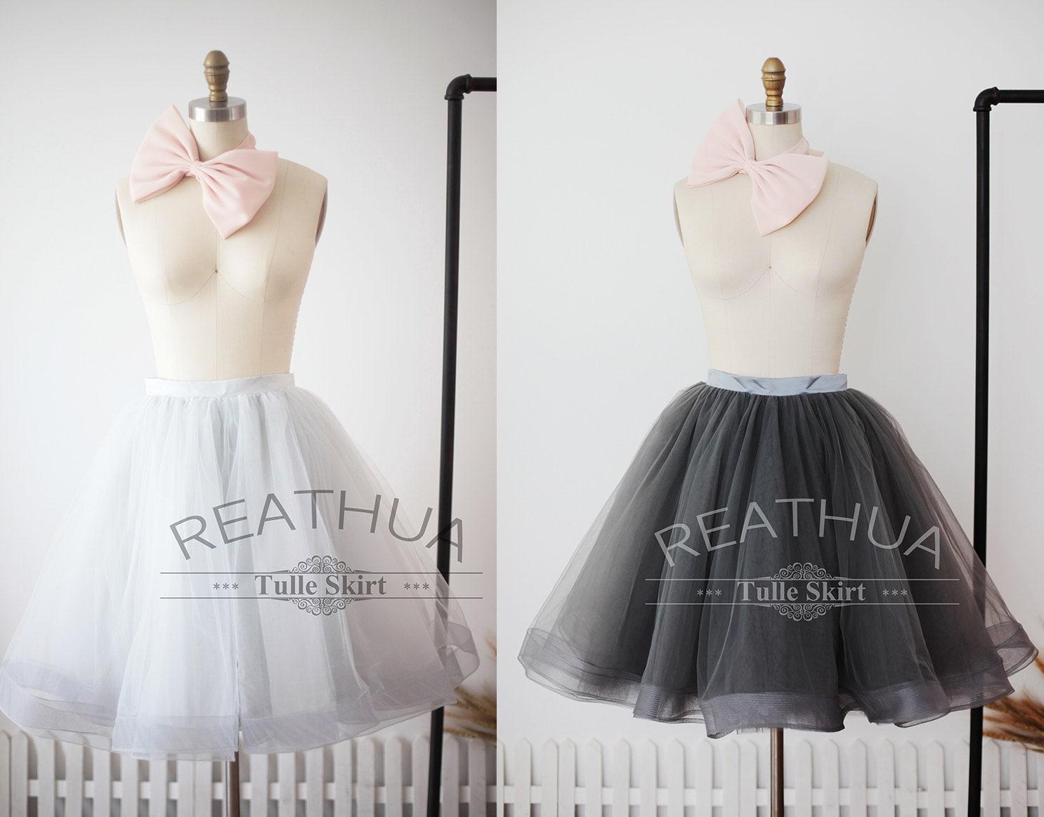 Light Gray Bridesmaid Dresses Knee Length Soft Tulle: Black Horsehair Tulle Skirt/Short Women Tulle Skirt/TUTU Tulle