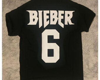 Justin Bieber 6 Purpose Tour Short Sleeve Shirt - Black