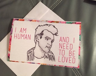 Morrissey Valentine's Day card