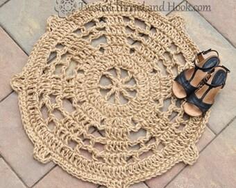 Boat Wheel Doormat - Nautical Rope Mat - Steering Wheel Doormat