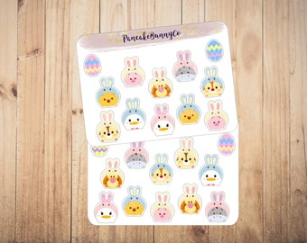 Tsum Tsum Easter Spring Bunny Rabbit stickers