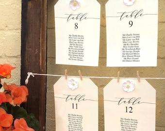 Navy Blue Editable Wedding Seating Chart Individual Printable