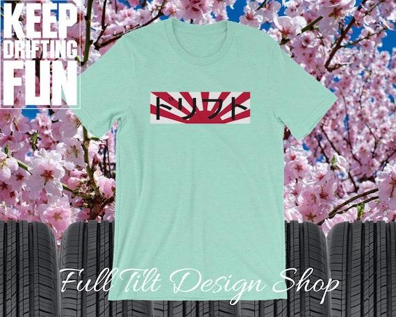 Drift Japanese Text Supreme Style Japanese Flag Tee Short-Sleeve Drift Culture Unisex Keep Drifting Fun Hoonigan T-Shirt