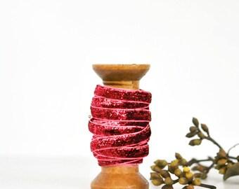 Glitter Velvet Ribbon {5m} Pink | Modern Gift Wrap | Pink Sparkly Ribbon | Sweet 16 | Sparkly Gift Ribbon