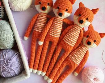 Stuffed fox/Crochet fox/Amigurumi animals/Forest animal decor/Amigurumi fox/Gift for baby/Knitted fox/Plush fox/Crochet toy/Baby toy/Fox toy