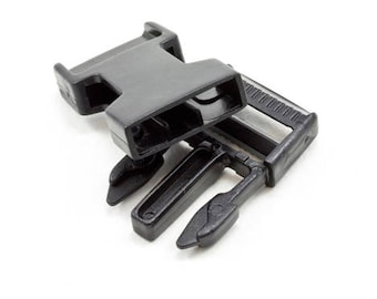 """1"""" Black Side Release Buckle - 10 Pack - High Quality Acetal - ACW Brand - Made in USA"""