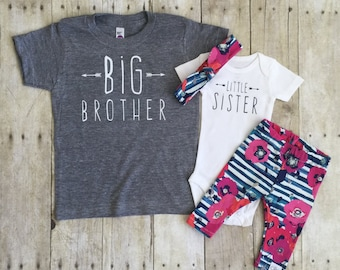 Big Brother Little sister outfit / Big brother little sister set / Big Brother T-Shirt