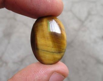 tiger eyel Cabochon  Cts 15.10 natural tiger eye gemstones oval 22 x 16 mm, tiger eye gemstone, tiger eye, semi precious gemstone 522