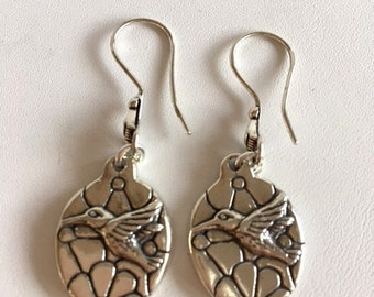 Hummingbird Earrings-Sterling Silver Earrings