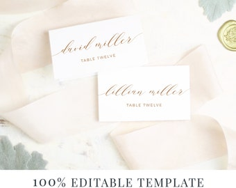 Wedding Escort Cards Etsy - Placement card template