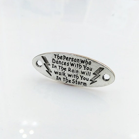 Quote connector word connector word band quote pendant word pendant quote connector word connector word band quote pendant word pendant word charm silver word charm dances in the rain quote from theslipperypearl on etsy aloadofball Choice Image