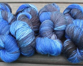 Frostbite - hand dyed yarns by AniLove Design (100g/skein)