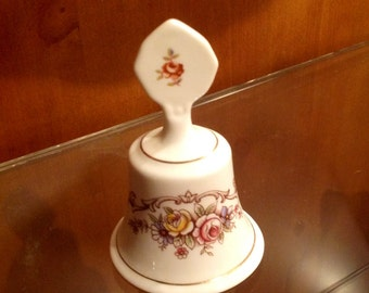 Staffordshire Bell With Clapper, Fine Bone China, Made in England