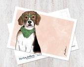 Cute Illustrated Beagle w...