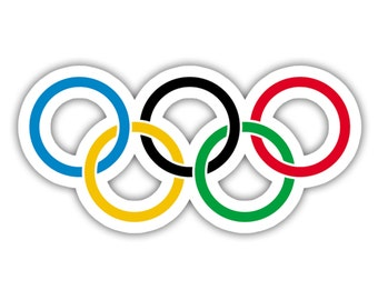 Olympic Rings Logo Vinyl Decal Sticker