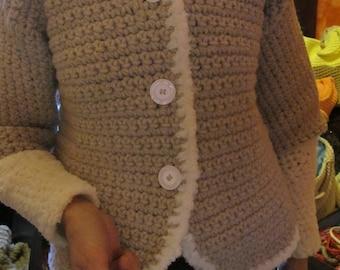crochet wool jacket