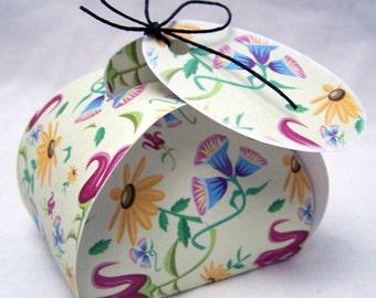 Digital download Wildflower favor box; printable gift box