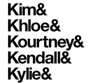 """Kardashians - Ikea Ribba 17x13"""""""