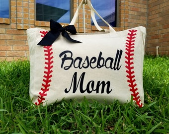 Baseball Mom Totebag | Canvas Tote |  Custom Totebag |  Handbag |  Personalized |  Handcraft