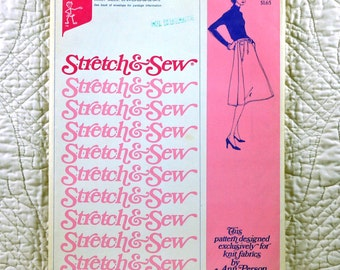 Skirt, Stretch and Sew 405 Pattern, Ann Person, Wrap, 1975 Uncut, Waist Size 22 24 26 28 30 32 34