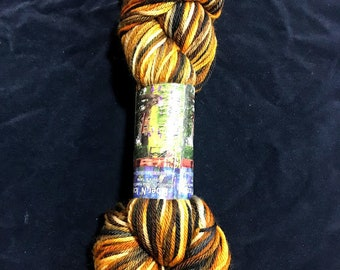 Gold Rush Worsted Superwash Hand Dyed Yarn 200 yds