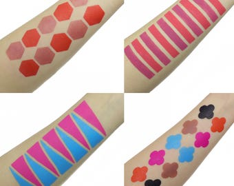 10 Section Makeup Swatch Stencil