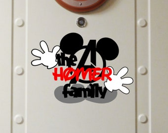 Personalized Marvel Family Name - Disney Cruise Magnet - Door Magnets