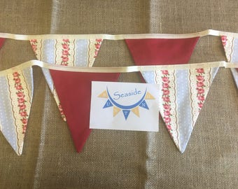 Blue and rose floral bunting