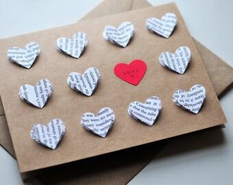 Love U // Blank Card // Valentine's Day Card // Love You Note // Wedding Card // Anniversary Card
