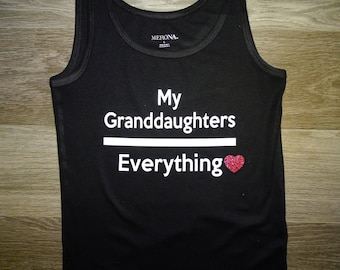 My granddaughters over everything grandma shirt