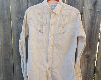 Vintage Men's Western Wear Shirt Embroidered