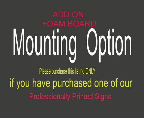 Add on foam mounting to any print from beforeyousayido etsy shop