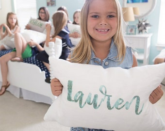 "name pillow, personalized pillow, baby gift, baby pillow, baby shower gift, birthday gift - ""The Lauren"""