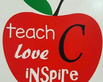 Teach, Love, Inspire Decal