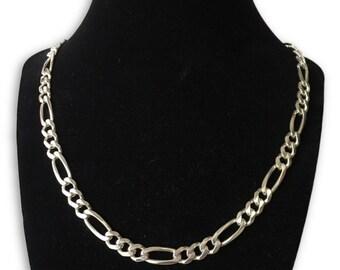 silver Figaro Men's necklace