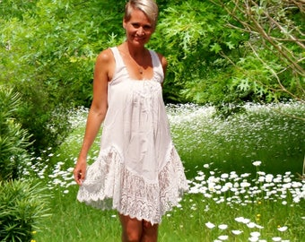Katherine Harestad Sheer Victorian Lace Dress