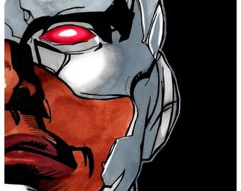 Cyborg Head Print