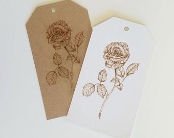 Rosa Gift Tags - Pack of 10